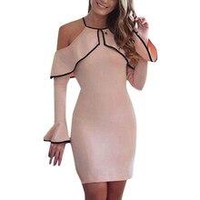 JAYCOSIN Womens Dress Plus Size Off Shoulder Sheath Mini Dress Ladies Party Stretch Party Evening Bodycon Dress vestidos z1214