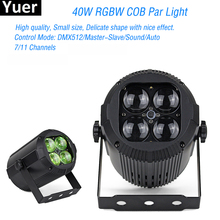 40W RGBW COB Par Light 4IN1 LED Stage Light Wall Wash Light For Bar KTV Party Wedding Concert Parties Disco DJ Stage Lighting 2pcs lot new stage interactive led dance floor light china for disco nightclub dj bar party wedding decoration dancing lighting