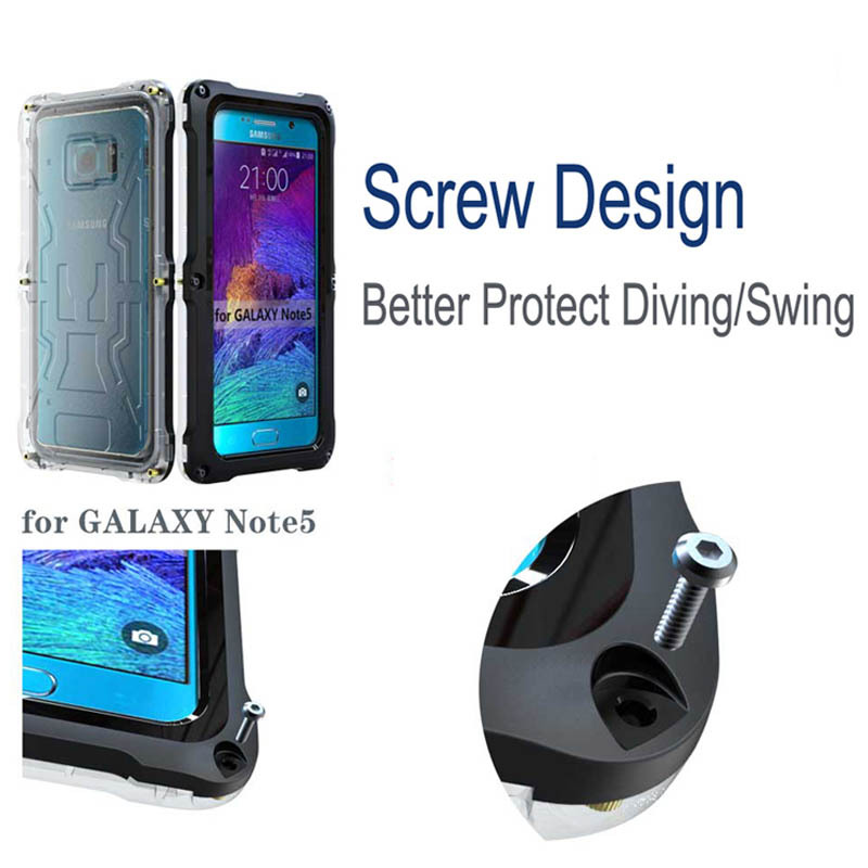 the latest 56cd1 17596 US $19.89  Note 5 Waterproof Cover Case For Samsung Galaxy Note 5 Water  proof Outdoor Underwater Fundas Diving Sport Protective Phone Coque on ...