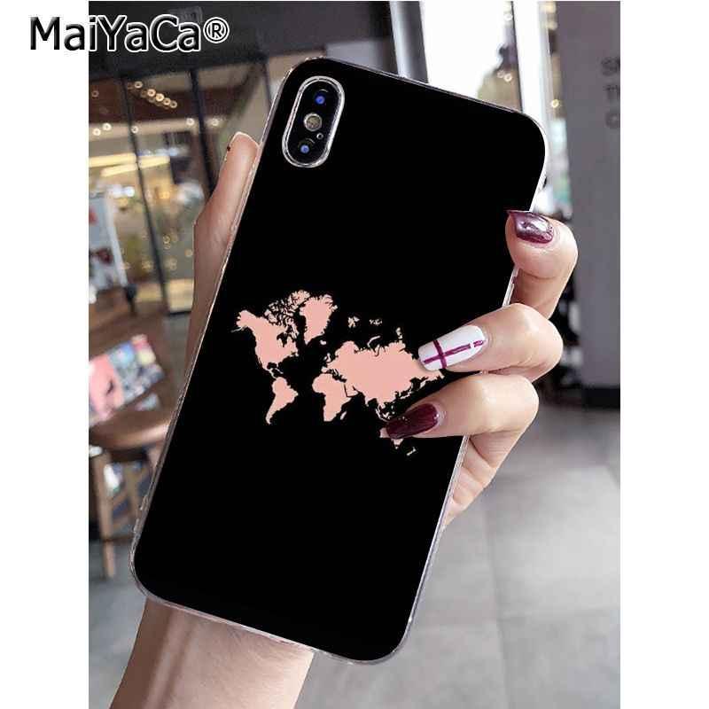 MaiYaCa Perjalanan Di Peta Dunia Pesawat Khusus Menawarkan Ponsel Case untuk Apple iPhone 8 7 6 6S Plus X XS Max 5 5S SE XR Mobile Cover