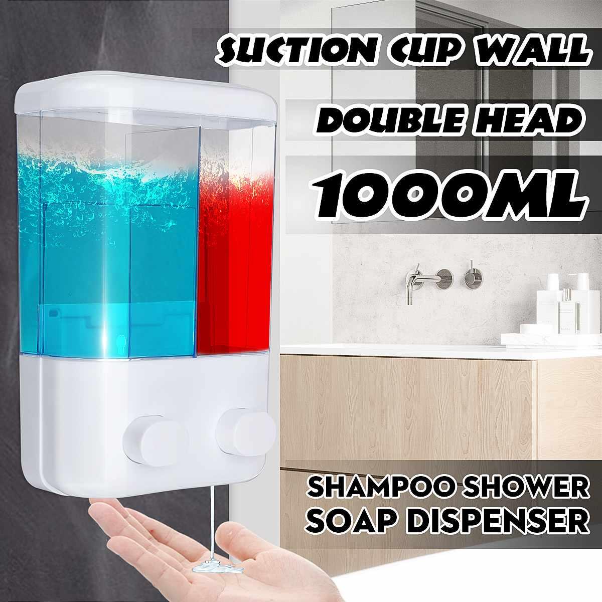 1000ml Wall-Mount Soap Dispenser Shower Liquid Soap Shampoo Dispenser For Kitchen Bathroom Hotel Suction Cup Accessoires