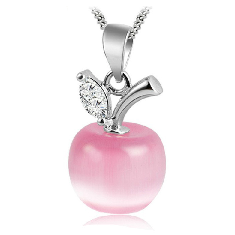 2016 Christmas Gift Lovely Cute Pink White Opal Apple Shapeds