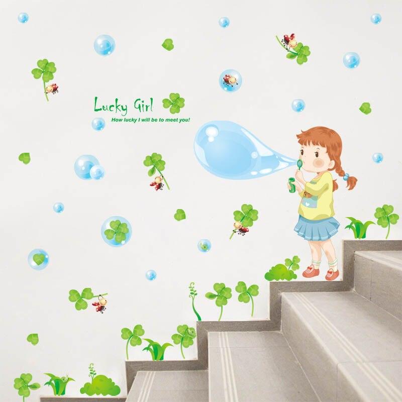рисунок мыльные пузыри на стене самый большой