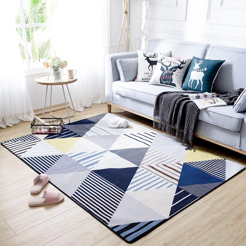 Nordique moderne style minimaliste motif géométrique tapis triangle rayé salon tapis