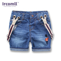 New Child denim shorts Summer Style Korean Boys  Kids Jeans Pants Curling Pants Baby Denim Overalls Suspenders Shorts 2T-8T