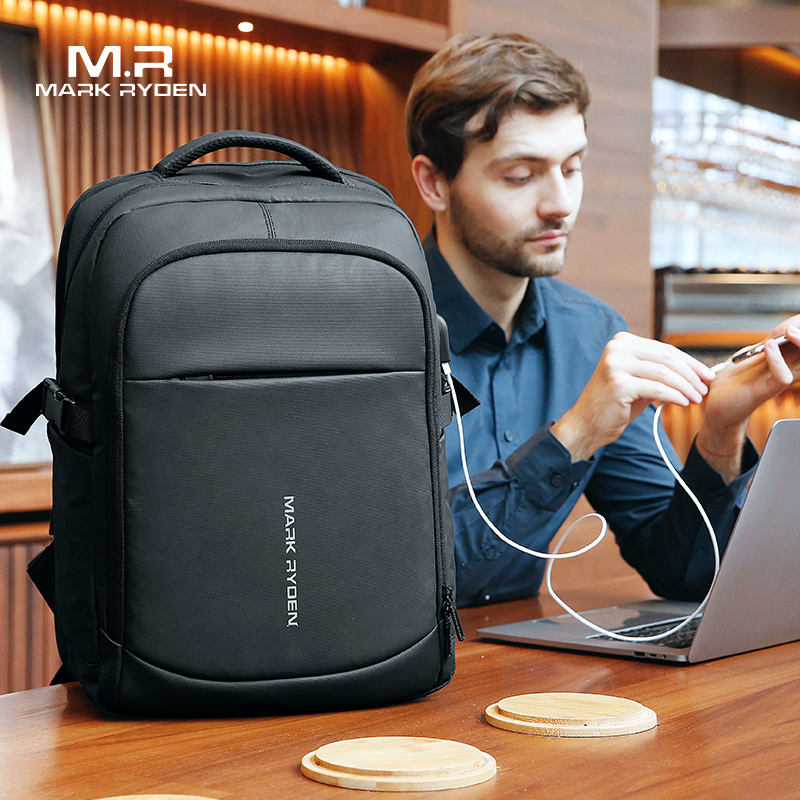 Man Backpack Pockets-Bag Laptop Usb-Charging Mark Ryden Multifunctional Multi-Layer Waterproof
