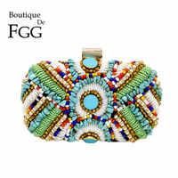 Boutique de fgg boêmio vintage bolsas de embreagem ouro frisado saco noite bolsa de casamento festa bolsas festa de fiesta mujer