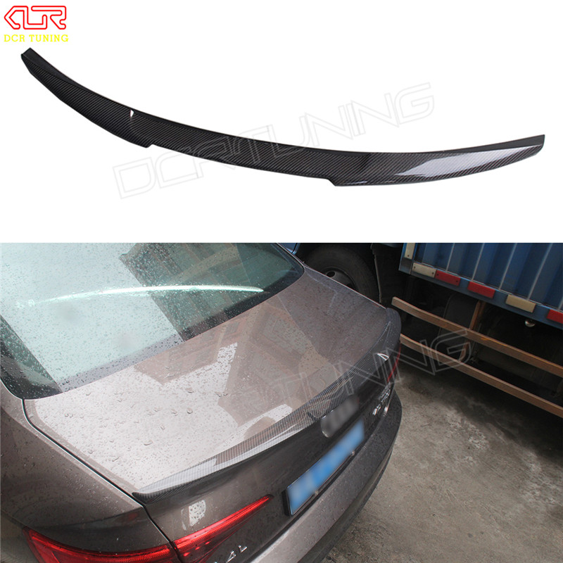 M4 style For Audi A4 B9 Spoiler 2016 - UP Carbon Spoiler Rear Trunk Spoiler Carbon Fiber for A4 carbon spoiler wings for mercedes w213 spoiler e class 4 door sedan e200 e220 e250 e300 carbon fiber rear trunk spoiler wings e63 style 2016 up