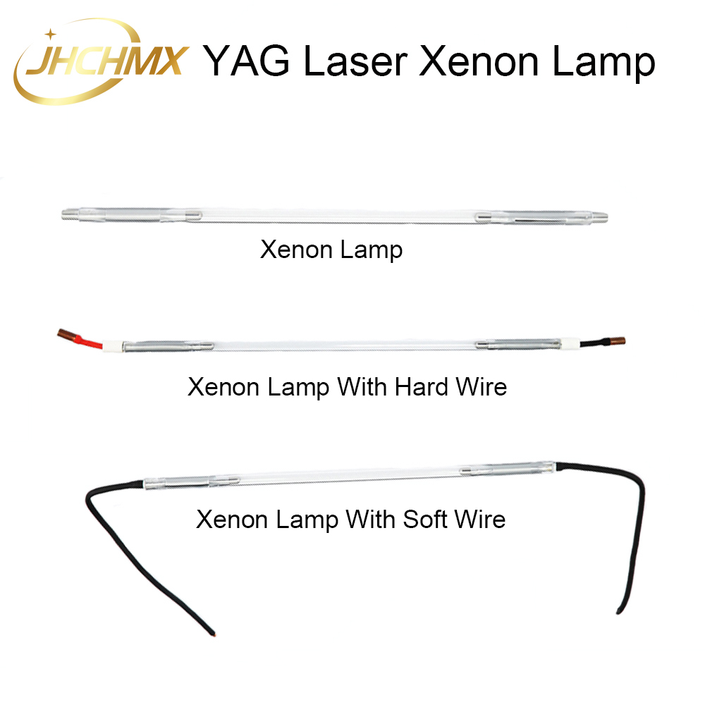 High Quality YAG Laser Xenon Lamp With Hard/Soft Wire Flash Pulsed Light Xe 8*125*270-5 For YAG Laser cutting welding machine laser xenon lamp x8 125 270 5 use for laser welding machine laser mark machine other size also can be making