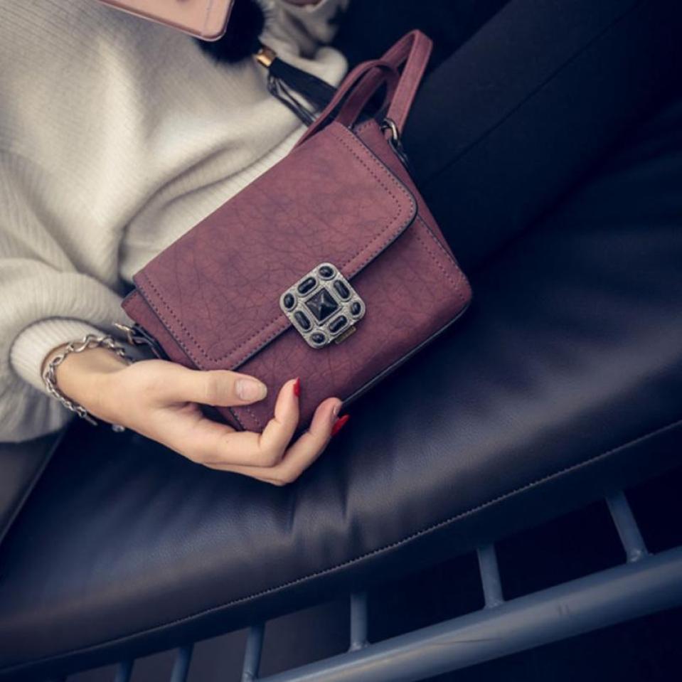 Для женщин кожаный портфель сумка Tote Crossbody сумка красный сладкий и в простом стиле маленькая сумка