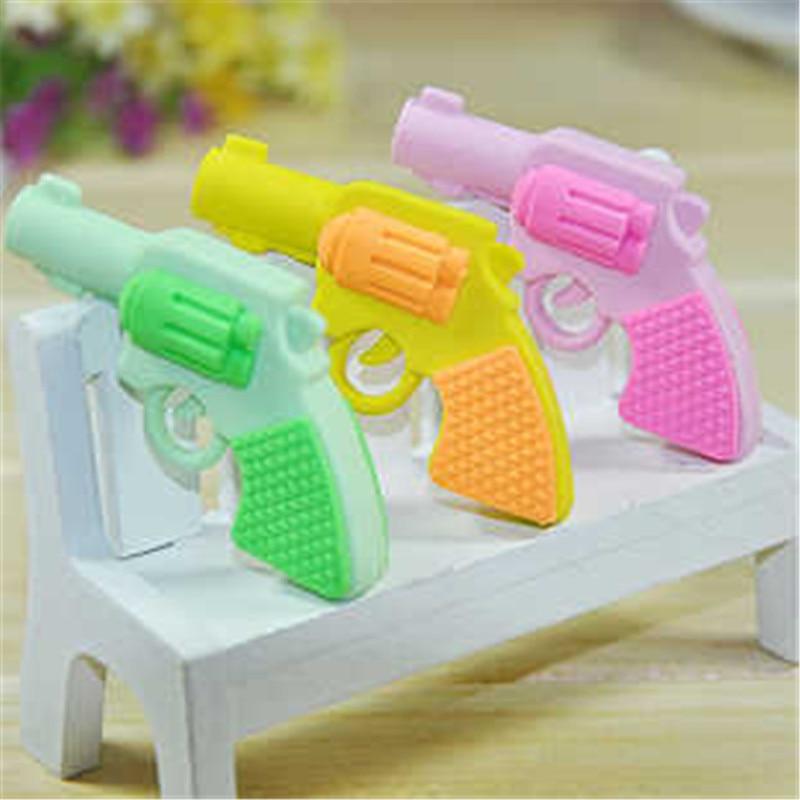 DL D626 Japanese Japanese Cartoon Toys Eraser Cartoon Pistol Modeling Lovely Eraser Student Prizes Mini Gun Student Supplies