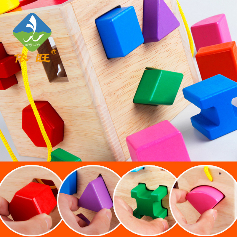 Toy Woo Wooden Colorful Model Building  Kits Geometric Object And Math Early  Education Toys  For 3~6 Years Old Children gigo science toys 1603 colorful animal pattern work cards model building kits teaching aid math balance for kids arithmetic