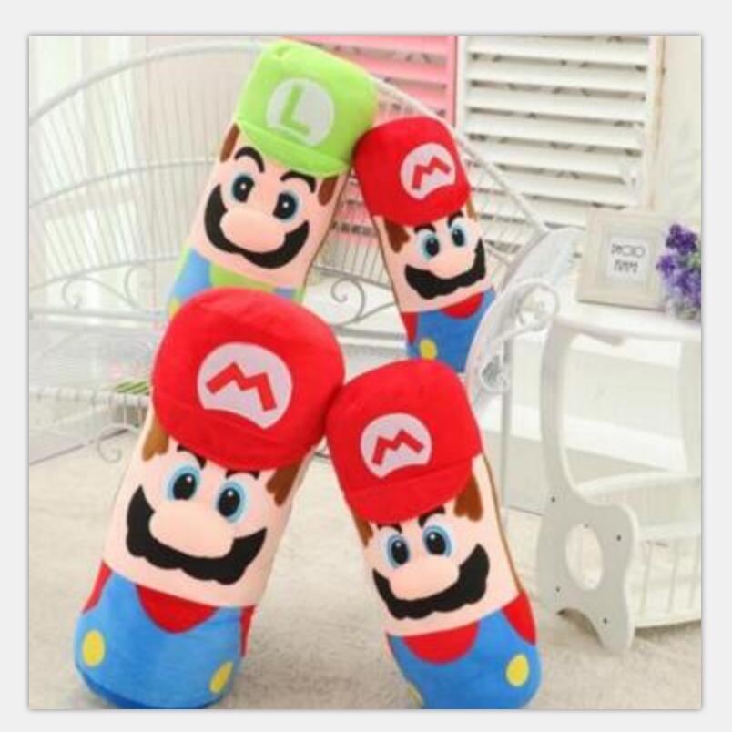 1pcs 50cm Large Pillow Mario and Luigi Plush Pillow,Super Mario Bros Brothers Luigi Plush Doll shfiguarts super mario bros mario