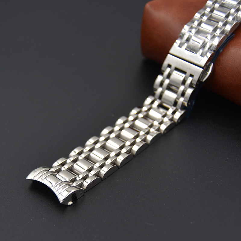 19mm 20mm Upscale Watchband PRC200 T17 T461 T014430 T014410  Watch Parts male strip Solid Stainless steel bracelet straps L264
