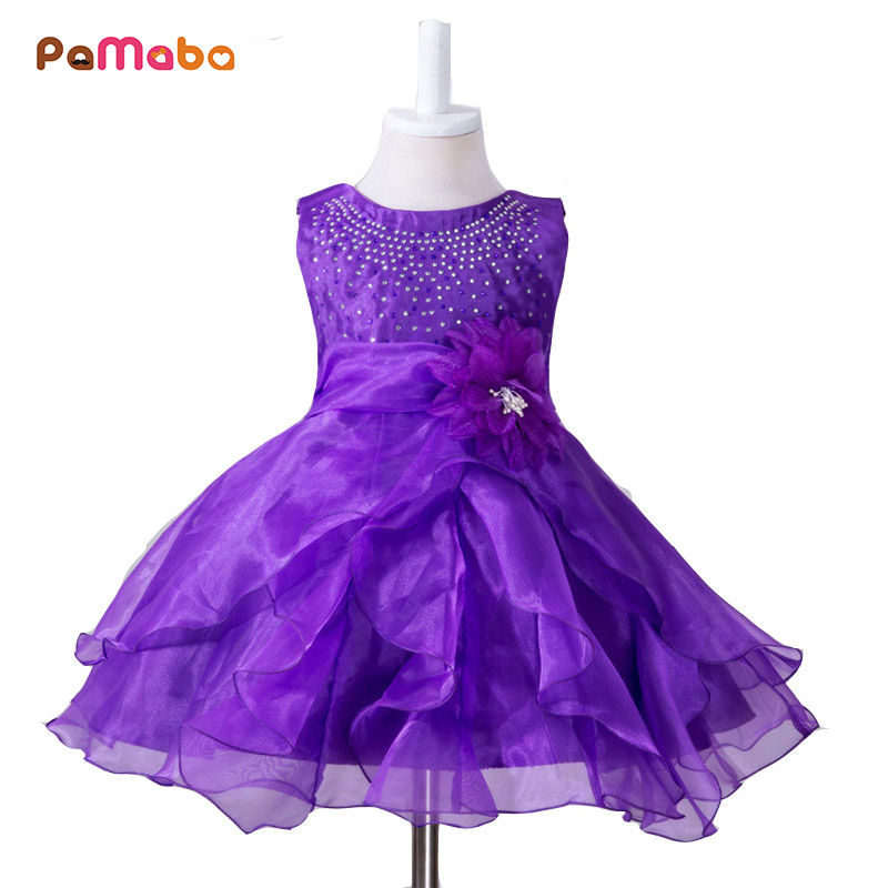 PaMaBa 0-2 Years Old Baby Girl Dress 6 Colors Available Infant Summer Dress For Evening Party Sleeveless Princess Floral Vestido