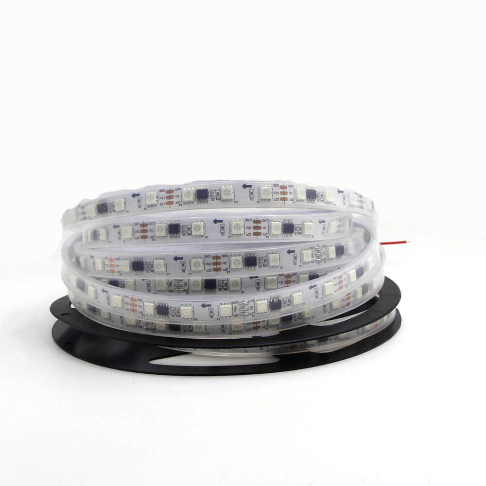 5 m pełny kolor WS2811 taśmy LED DC 12 V czarny biały PCB RGB inteligentny pikseli sterowania diodami Led adresowalnych cyfrowy 1 sterowania ic 3 led