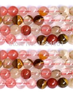 5ba95e13e394 DIY 8mm al por mayor de cristal natural grano mezcla sandía granos de  piedra naturales al por mayor porción de la joyería de la manera del  Shamballa
