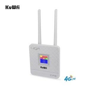 Image 3 - KuWFi 300Mbps kablosuz yönlendirici 4G Wifi Wifi SIM kartlı Router yuvası ve RJ45 Port çift harici antenler ev için