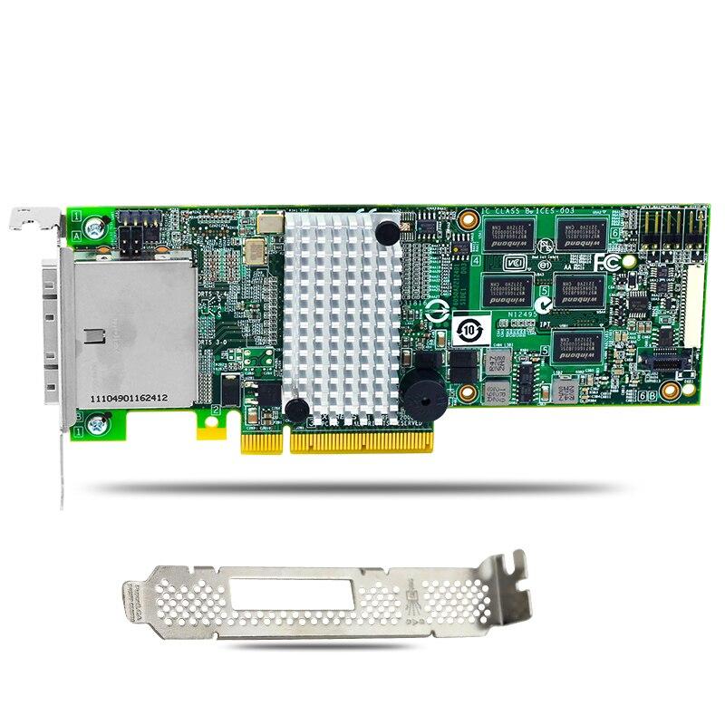 MegaRAID 9280-8e External 8-Port 6Gb/s PCI-Express SAS SATA RAID Controller Card 375 3536 sas raid with battery array card pci e sas card 100% test good quality
