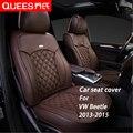 6 Colores A Medida Cubierta de Asiento de Coche para Volkswagen Escarabajo (2013-2015) Compuesto de la pu Car Styling accesorios del coche Protector