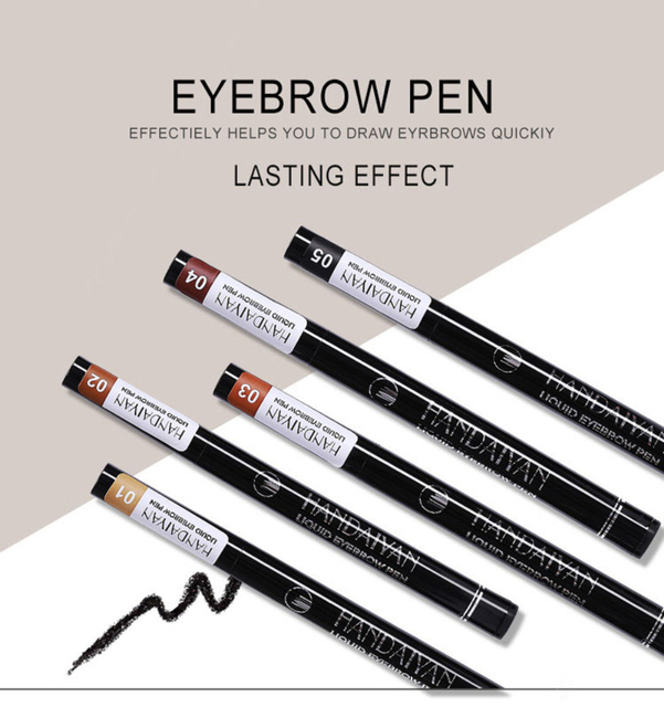 HANDAIYAN 1pc Eyebrow Pencil 4 Head Brush Waterproof Liquid Eyebrow Tattoo Pen Enhancer Tint 4 Color Makeup maquillaje TSLM2 5
