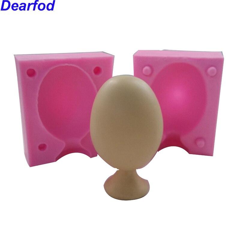 9772 Stojatý tvar vajec Fondant Silikonový klešťový talíř pro mýdlo Čokoláda dělá kuchyňské náčiní DIY nástroj