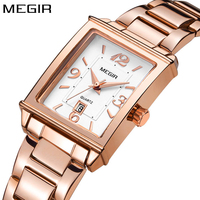 Megir brand luxury simple women watches stainless steel watch women quartz ladies wrist watch gold relogio feminino reloj mujer