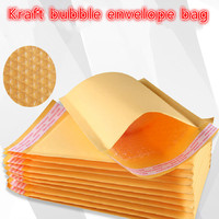 110x130mm 100pcs/lots Bubble Mailers Padded Envelopes Packaging Shipping Bags Kraft Bubble Mailing Envelope Bags seal envelop