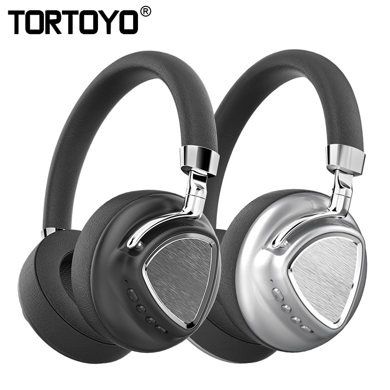 TORTOYO Metal Foldable Noise Reduction Wireless Bluetooth Headphone Stereo Super Bass 3D Surround PC Gaming Phone Sports Headset nx 8252 professional foldable wireless bluetooth headphone super stereo bass effect portable headset for dvd mp3