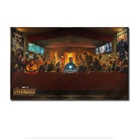 Фильм плакат тайная ужин Мстители герой кино книги по искусству Холст Плакаты на стену, изображения для гостиная без рамки