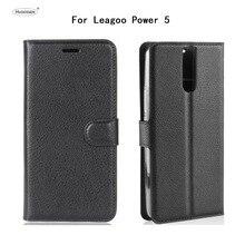 HUDOSSEN для Leagoo мощность 5 чехол роскошный защитный для мобильного Coque Leagoo 5 откидная крышка бумажник кожаный сумки