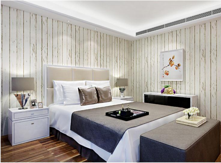 Beibehang Blau Weiß 3d Tapete Rolle Natürlichen Rustikalen Holz Bord  Wandbekleidung Design Vintage Wand Papierrolle Papel