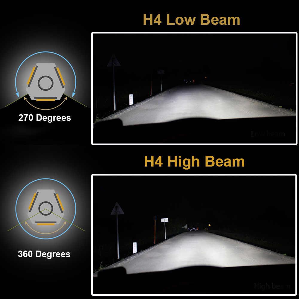 Uttril H4 светодио дный H7 светодио дный 3000 К 4300 К 6500 К 8000 К H1 H3 880 881 H8 H11 9005 9006 светодио дный лампы фар автомобиля Авто противотуманных фар для автомобиля 12 В