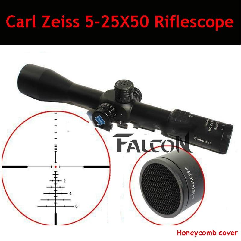 Carl Zeiss 5-25X50 FFP Optics Compact Riflescope Airsoft Sniper Rifle Optics Parallax Tactical Hunting Scope With 20mm/11mm Rail carl zeiss touit 1 8 32