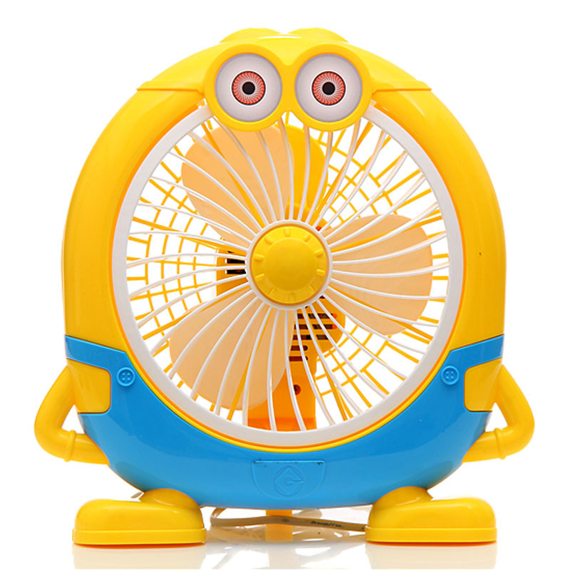 Cut Little Yellow People Electirc Fan Home Office Summer Cooling Fan 2 Gear Wind Speed Air Cooling Ventilador arte lamp ellisse a6342pl 8wg