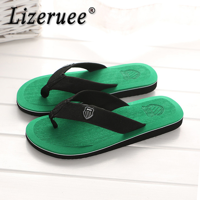 Lizeruee New Arrival Summer Men Flip Flops High Quality Beach Sandals Non-slide Male Slippers Zapatos Hombre Casual Shoes S321
