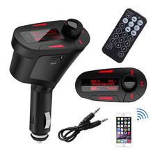 Car Kit MP3 Player Audio FM Transmitter Remote USB SD Card A