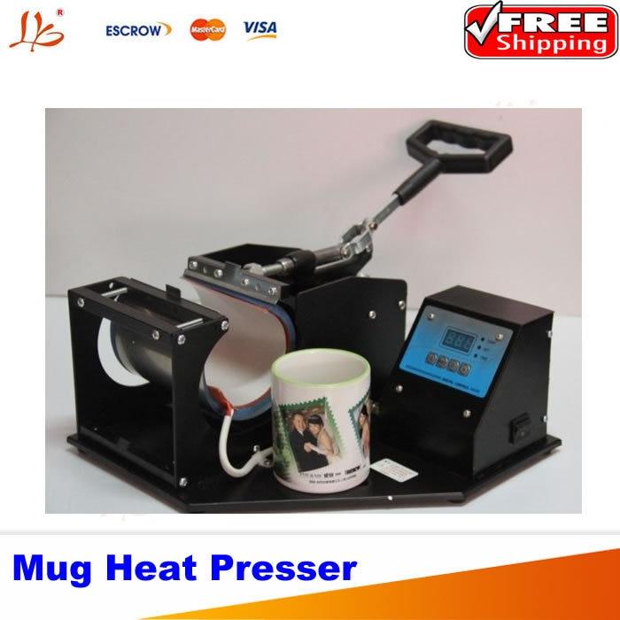 Free Shipping Portable Digital Mug Heat Press Machine, Cup Heat Press 1pc air cap press machine cp815 pneumatic heat press machine free shipping by dhl