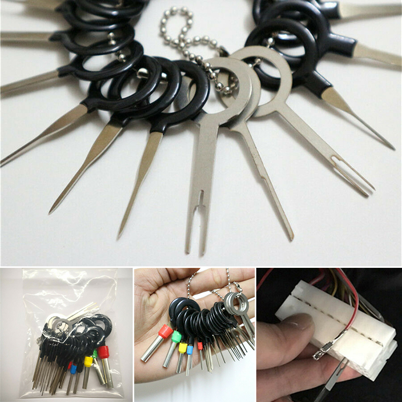 21pcs Car Wire Terminal Removal Tool Cable Connector Pin Puller Disassemble Wire Terminal
