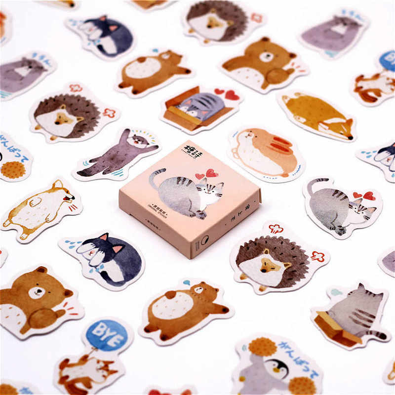 40 PCS Restore Ancient Ways Number Sticker Cute Decals Stickers Gifts for Children to Laptop Suitcase Guitar Fridge Bicycle Car