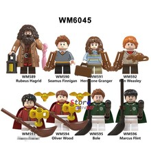 Single Building Blocks Harry Potter Figures Rubeus Hagrid Seamus Finnigan Hermione Ron Oliver Wood Collection toys for children(China)