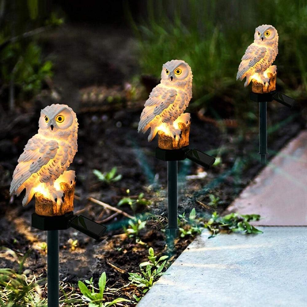 Magic Owl Shape Creative LED Garden Lights Solar Night Lights Lawn Lamp For  Pathway Yard New