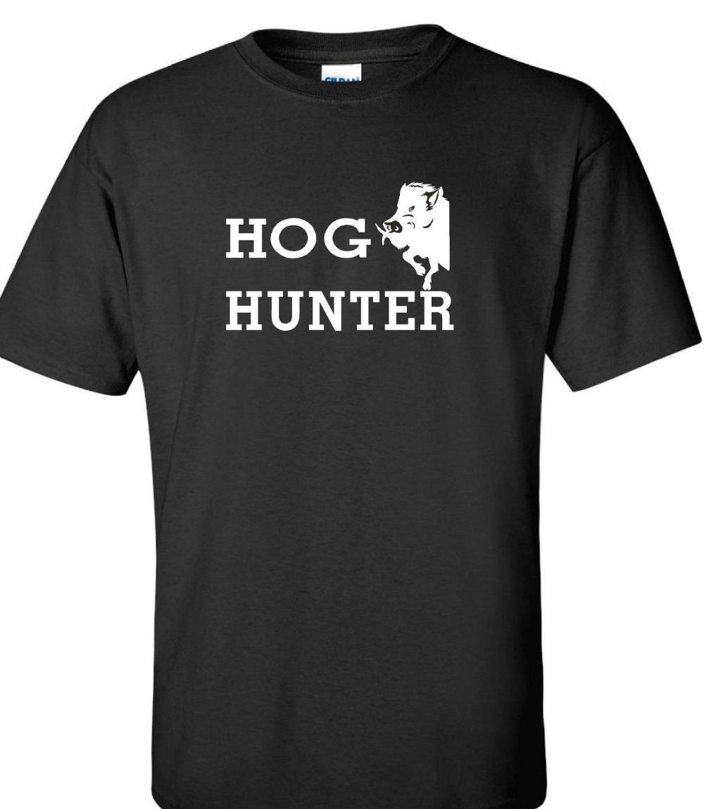2019 New Cotton Tee Shirt Hog Hunter wild boar hog huntings t shirt 4 colors Fashion T-shirt