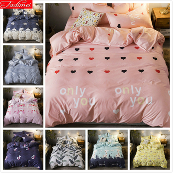 Single Twin Full Double Queen Super King Big Size Duvet Cover 3/4 pcs Bedding Set Kids Girl Bed Linen Quilt Pillow Case 150x200