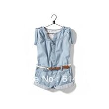 Livraison gratuite d'été enfants de vêtements salopette lavage à l'eau vêtus de blanc denim enfant salopette