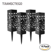 4PCS Solar Light Garden Pathway Lawn Lamp Lantern Decoration Outdoor Night Path Wireless Waterproof Led