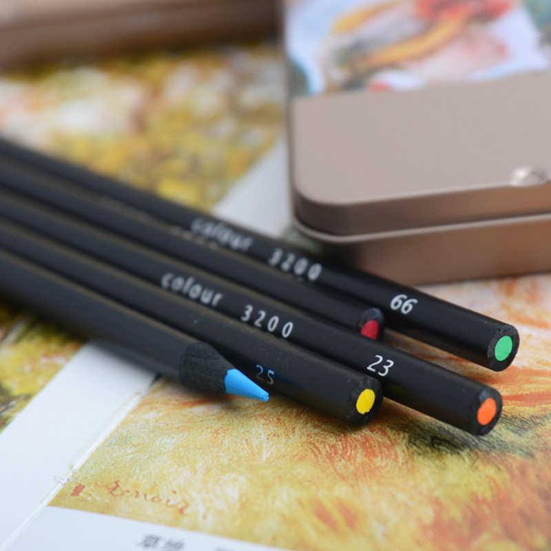 Lápices De colores De aceite suave no tóxico De alta calidad 36 48 lápiz De Color Soluble en agua profesional para arte la escuela suministros