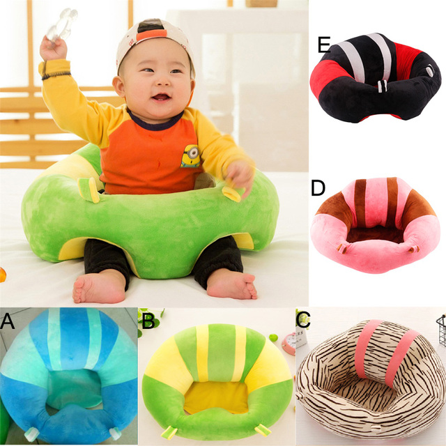 Baby Support Seat Sofa Soft Infant Feeding Learning To Sit Chair Inflatable Cotton Plush Portable Safety