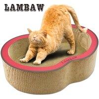 22,05 pulgadas Jumbo eco-friendly corrugado sofá gato grande Scratcher gato salón cama papel cartón gato rascarse Pad -XL rojo