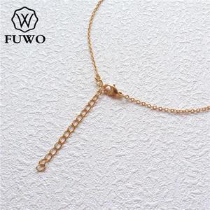 Image 2 - Fuwo atacado latão redondo o corrente colares de alta qualidade anti mancha 24k ouro mergulhado corrente para fazer jóias 1.5*2.0mm nc001